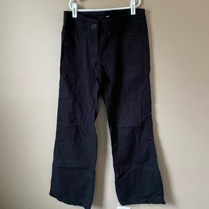 Black linen pants size 6 H&M